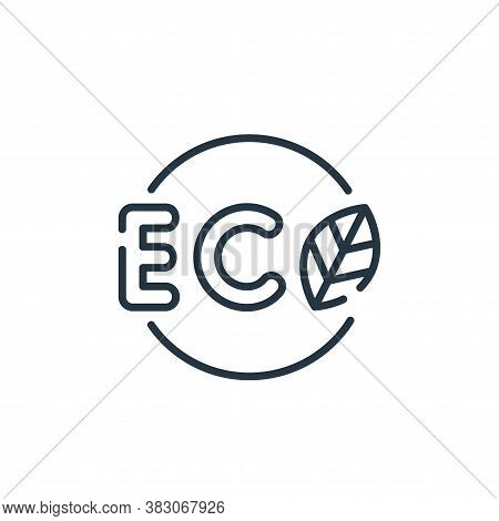 eco tag icon isolated on white background from ecology collection. eco tag icon trendy and modern ec