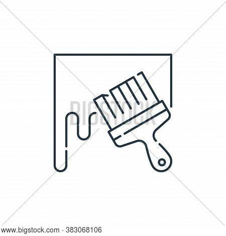 brush icon isolated on white background from labour day collection. brush icon trendy and modern bru