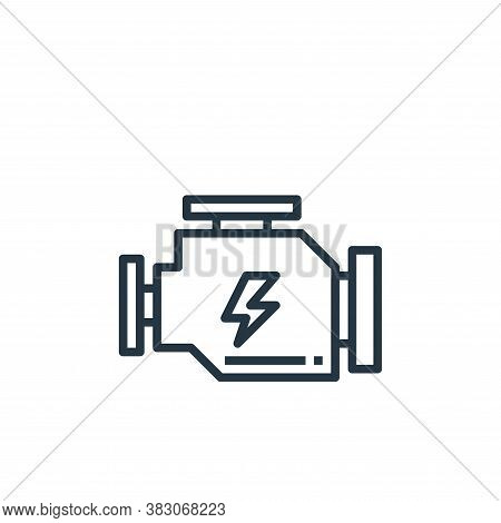 engine icon isolated on white background from car service collection. engine icon trendy and modern