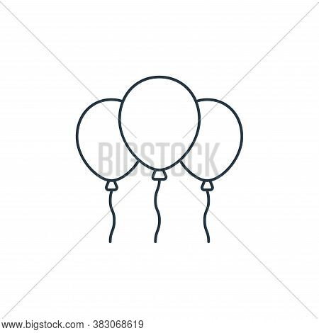 balloons icon isolated on white background from carnival collection. balloons icon trendy and modern