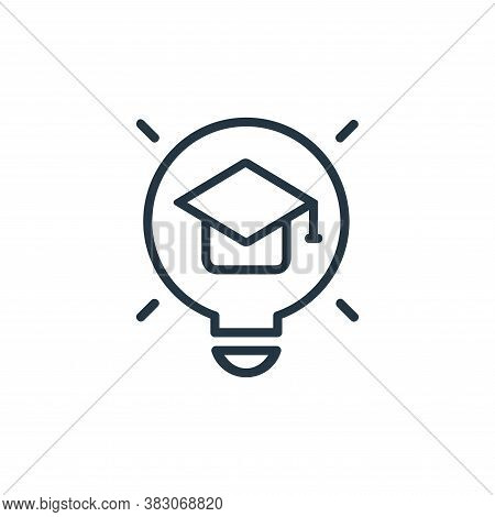 innovation icon isolated on white background from online learning part line collection. innovation i