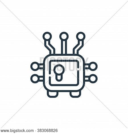 cryptocurrency icon isolated on white background from cyber security collection. cryptocurrency icon