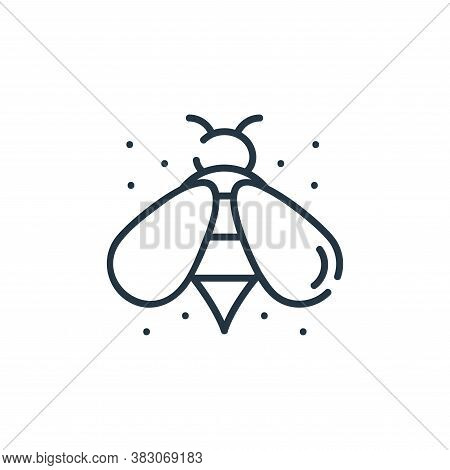 bee icon isolated on white background from ecology collection. bee icon trendy and modern bee symbol