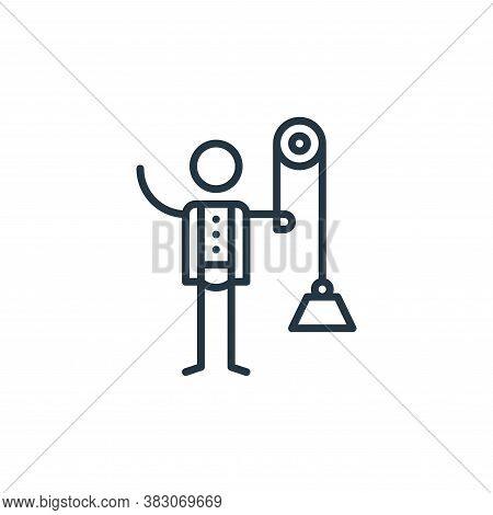 physics icon isolated on white background from arts collection. physics icon trendy and modern physi