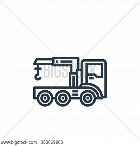 crane icon isolated on white background from car service collection. crane icon trendy and modern cr