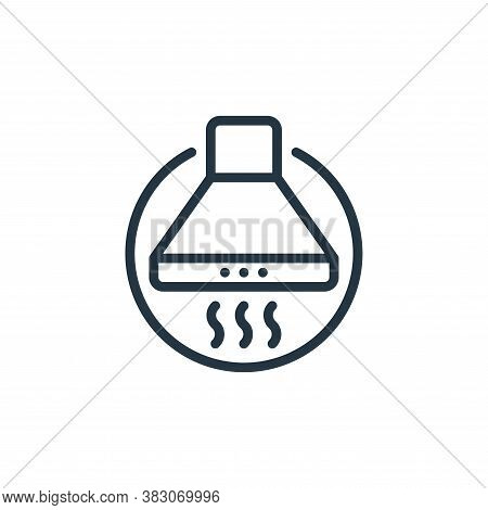extractor hood icon isolated on white background from electrical appliances collection. extractor ho
