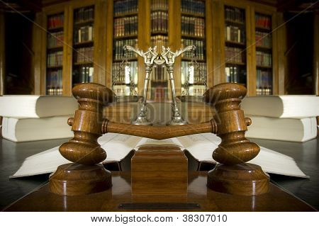 Symbol Of Law And Justice In The Library