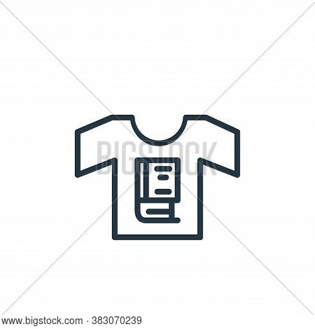 t shirt icon isolated on white background from online learning part line collection. t shirt icon tr
