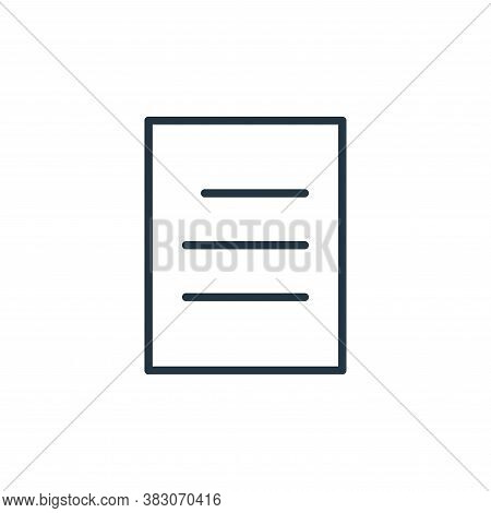 paper icon isolated on white background from user interface collection. paper icon trendy and modern