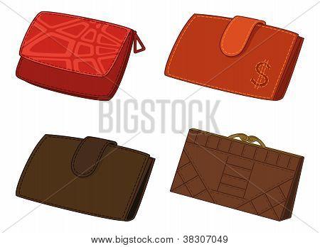 Leather wallets, set