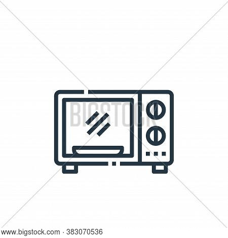 microwave icon isolated on white background from cooking collection. microwave icon trendy and moder