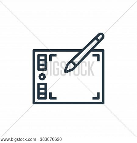 graphic tablet icon isolated on white background from computer hardware collection. graphic tablet i