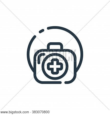 doctor bag icon isolated on white background from hospital collection. doctor bag icon trendy and mo