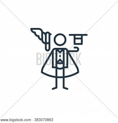 magician icon isolated on white background from arts collection. magician icon trendy and modern mag