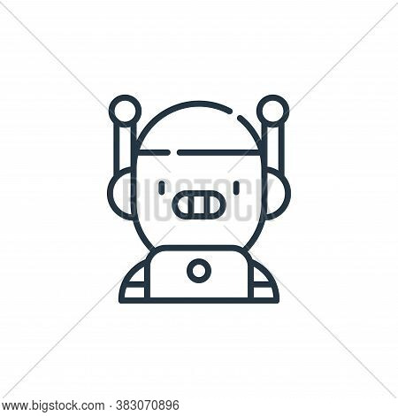 bot icon isolated on white background from cyber security collection. bot icon trendy and modern bot