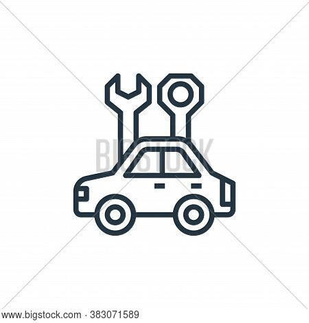 car repair icon isolated on white background from car service collection. car repair icon trendy and