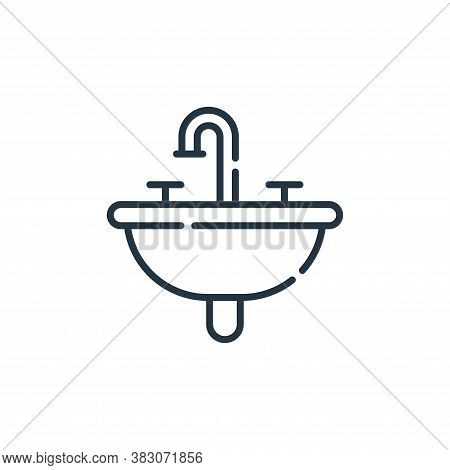 sink icon isolated on white background from hygiene routine collection. sink icon trendy and modern
