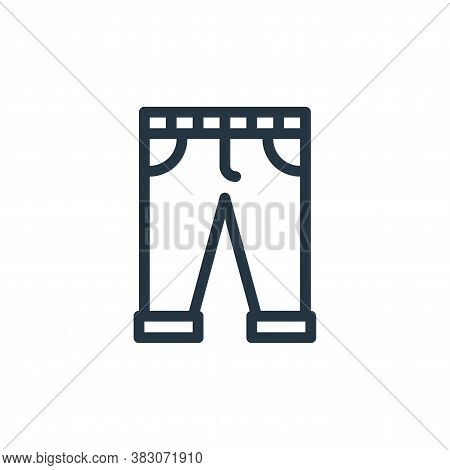 pants icon isolated on white background from daily life wake up collection. pants icon trendy and mo