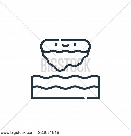 floating island icon isolated on white background from videogame elements collection. floating islan