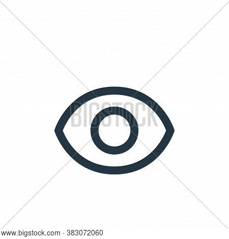 view icon isolated on white background from basic ui collection. view icon trendy and modern view sy