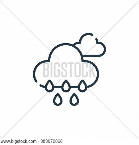 rain icon isolated on white background from ecology collection. rain icon trendy and modern rain sym