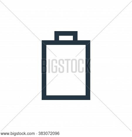 battery status icon isolated on white background from basic ui collection. battery status icon trend