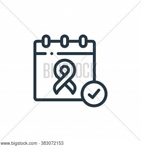 awareness day icon isolated on white background from charity collection. awareness day icon trendy a