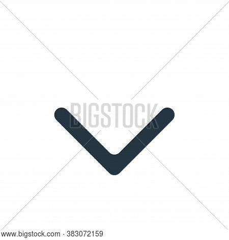 down icon isolated on white background from interface essentials collection. down icon trendy and mo