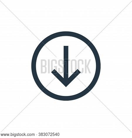 download icon isolated on white background from basic ui collection. download icon trendy and modern