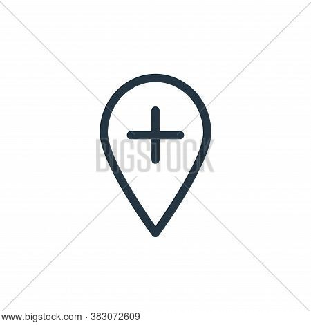 location icon isolated on white background from medicine collection. location icon trendy and modern