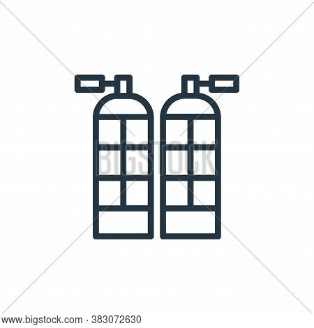 oxygen tanks icon isolated on white background from summer collection. oxygen tanks icon trendy and