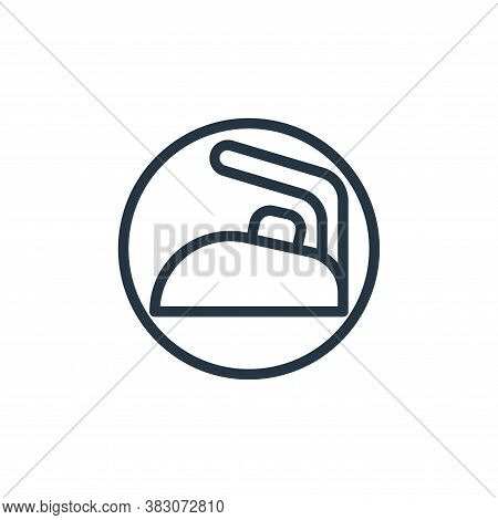 iron icon isolated on white background from electrical appliances collection. iron icon trendy and m