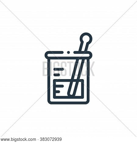 volumetric flask icon isolated on white background from laboratory collection. volumetric flask icon
