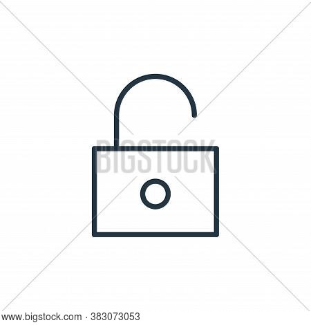 padlock icon isolated on white background from user interface collection. padlock icon trendy and mo