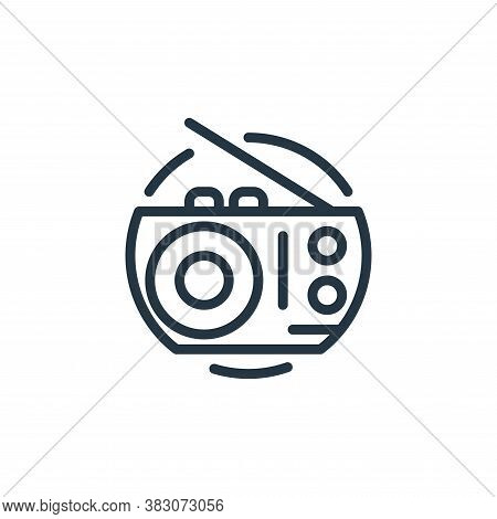 radio icon isolated on white background from electrical appliances collection. radio icon trendy and