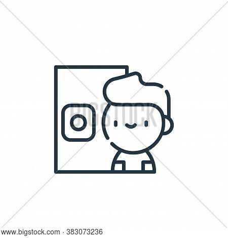 retinal scanner icon isolated on white background from cyber security collection. retinal scanner ic