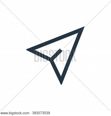 cursor icon isolated on white background from basic ui collection. cursor icon trendy and modern cur