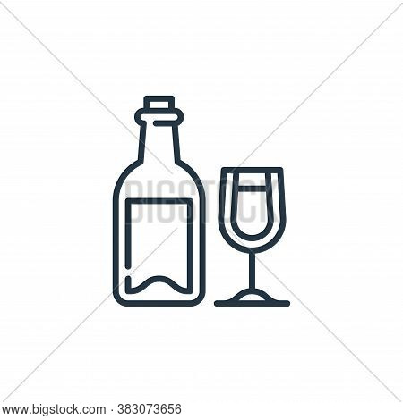 wine icon isolated on white background from food and drinks allergy collection. wine icon trendy and