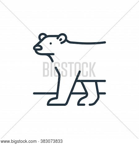 polar bear icon isolated on white background from ecology collection. polar bear icon trendy and mod