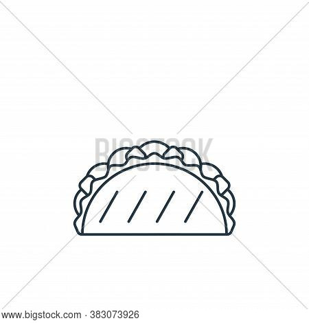 taco icon isolated on white background from carnival collection. taco icon trendy and modern taco sy