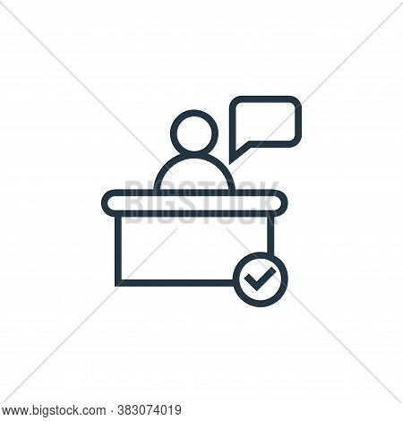 service icon isolated on white background from banking collection. service icon trendy and modern se