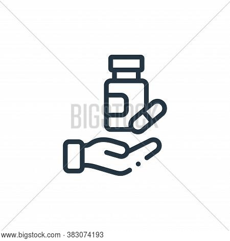 medicine icon isolated on white background from charity collection. medicine icon trendy and modern