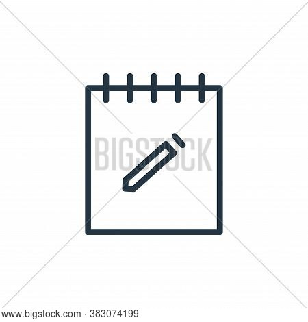 notes icon isolated on white background from working in the office collection. notes icon trendy and