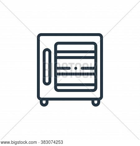 refrigerator icon isolated on white background from laboratory collection. refrigerator icon trendy