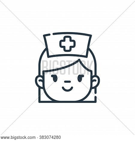 nurse icon isolated on white background from dentist collection. nurse icon trendy and modern nurse