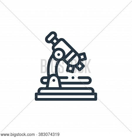 microscope icon isolated on white background from laboratory collection. microscope icon trendy and