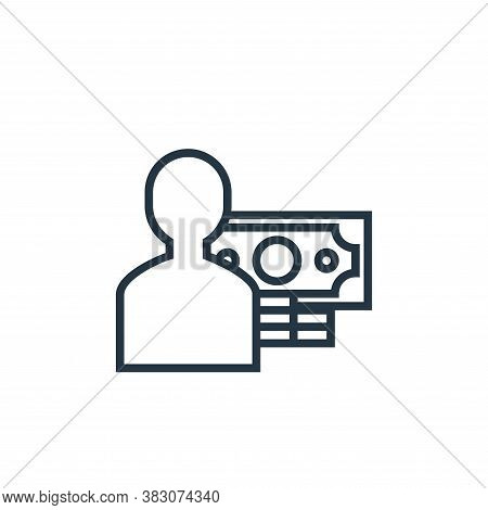 customer icon isolated on white background from banking collection. customer icon trendy and modern