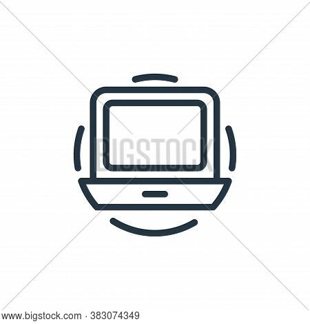 laptop icon isolated on white background from electrical appliances collection. laptop icon trendy a