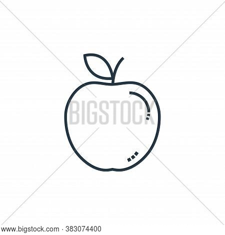 apple fruit icon isolated on white background from school collection. apple fruit icon trendy and mo