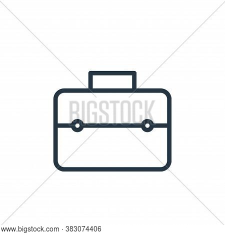 work suitcase icon isolated on white background from working in the office collection. work suitcase